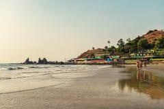 View of Arambol Beach Royalty Free Stock Images
