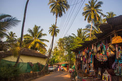 ARAMBOL, GOA, INDIA - MARCH 1, 2017: Street in Arambol, North Go. A, India on March 1 Stock Photo