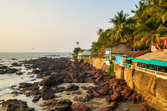 Arambol huts Royalty Free Stock Photo