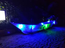 Arambol noc?, Goa, India obrazy royalty free