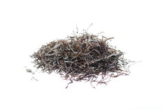 Arame. Dry seaweed  on white background. Sea vegetable Royalty Free Stock Image