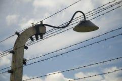 Arame farpado de Auschwitz-Birkenau fotografia de stock