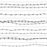 Arame farpado (papel de parede sem emenda do vetor) Ilustração Royalty Free