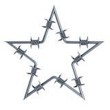 Arame farpado star-shaped Fotos de Stock