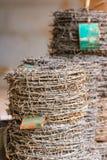 Arame farpado torcido Fotos de Stock