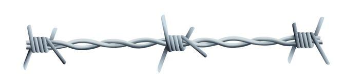 Arame farpado - uma ilustração de algum arame farpado ilustração do vetor