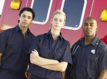 aramedics ambulansowy przód Obrazy Royalty Free
