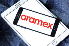 Aramex postal shipping company logo Stock Photo
