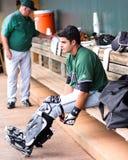 Aramis Garcia, Augusta GreenJackets. Augusta GreenJackets catcher Aramis Garcia Royalty Free Stock Photography