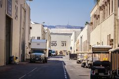 Paramount Pictures Studio Tour with Hollywood sign stock photos