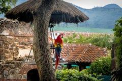 Aran i kolonial kloster fördärvar med berg Fotografering för Bildbyråer