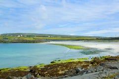 Aran Island. Irish Islands Aran, beach in North Coast Royalty Free Stock Images