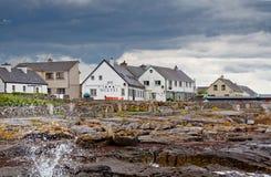 Aran Island fishermen seaside village. Old seaside fishermen village on Aran Island Royalty Free Stock Image