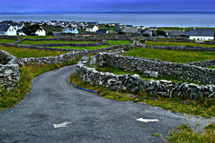 Aran Islands. A view of Inis Òir, the middle size of the 3 Aran Islands, off the Irish west coast Stock Photos