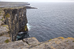 Aran Islands Cliffs. Cliff of Don Aengus, Inishmore, Aran Islands, Ireland Stock Photography