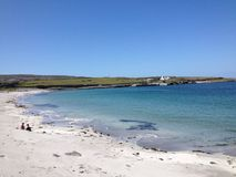 Aran Islands. Walking around Aran Islands in Ireland Stock Image