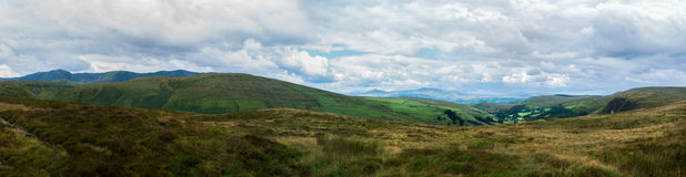 Aran mountains from Bwlch-y-groes. View towards Aran Fawddwy from Bwlch-y-groes, Gwynnedd, one of the highest passes in Wales. Snowdonia Stock Image