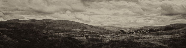 Aran mountains from Bwlch-y-groes. View towards Aran Fawddwy from Bwlch-y-groes, Gwynnedd, one of the highest passes in Wales. Snowdonia Royalty Free Stock Photos