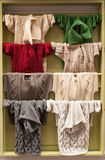 Aran sweaters display Royalty Free Stock Images