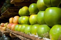 Arance del mercato dei coltivatori Fotografie Stock Libere da Diritti
