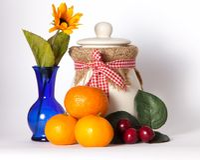 Arance e ciliege fotografia stock