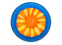 Arance e limoni in ciotola di vetro Immagini Stock Libere da Diritti