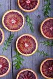 Arance e rucola (sanguinose) rosse Fotografia Stock Libera da Diritti