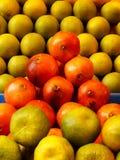 Arance fresche dell'azienda agricola da vendere Fotografia Stock Libera da Diritti
