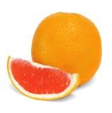 Arance isolate della frutta su un fondo bianco Fotografia Stock Libera da Diritti