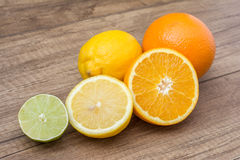 Arance, limoni e frutta della calce Fotografia Stock Libera da Diritti