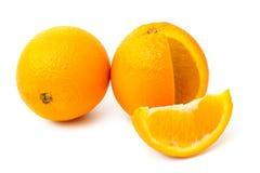 Arance mature su un bianco Fotografie Stock Libere da Diritti