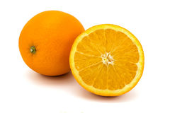 Arance su bianco Fotografia Stock
