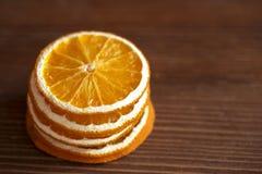 Arancia asciutta fotografia stock