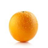 Arancia bagnata fresca Fotografia Stock