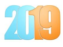 Arancia blu 2019 scrivere illustrazione vettoriale