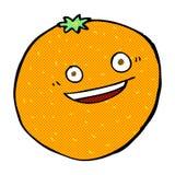arancia comica felice del fumetto Fotografia Stock