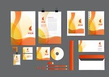 Arancia con il modello grafico di identità corporativa della curva Fotografie Stock Libere da Diritti