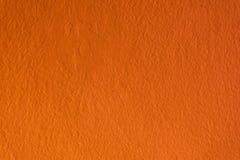 Arancia concreta della parete Fotografia Stock Libera da Diritti