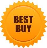 Arancia del bollo della guarnizione di Best Buy Immagini Stock Libere da Diritti