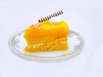 Arancia del dolce su bianco Immagine Stock Libera da Diritti