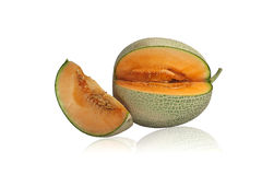 Arancia dell'interno del giapponese del melone immagine stock