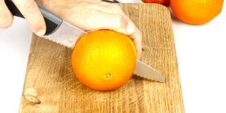 Arancia della taglierina Fotografia Stock