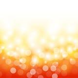 Arancia di estate con il fondo del chiarore della lente e del bokeh Fotografie Stock Libere da Diritti