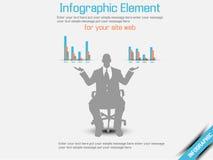 Arancia 2 di opzione tre del infographich dell'uomo di affari Immagini Stock