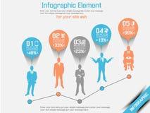 Arancia 5 di opzione tre del infographich dell'uomo di affari Fotografia Stock Libera da Diritti