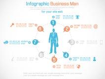 Arancia di opzione tre del infographich dell'uomo di affari Immagine Stock