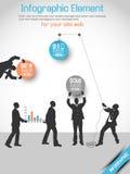 Arancia 10 di opzione tre dell'uomo di affari Immagine Stock