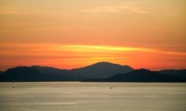 Arancia di tramonto Fotografie Stock Libere da Diritti