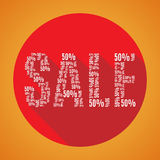Arancia di vendita 50 Immagini Stock Libere da Diritti