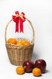Arancia e Apple Immagini Stock Libere da Diritti